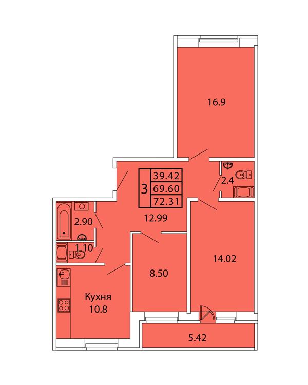 """Жк """"апрель"""": цены на квартиры от 1.57 млн. $, планировки ква."""
